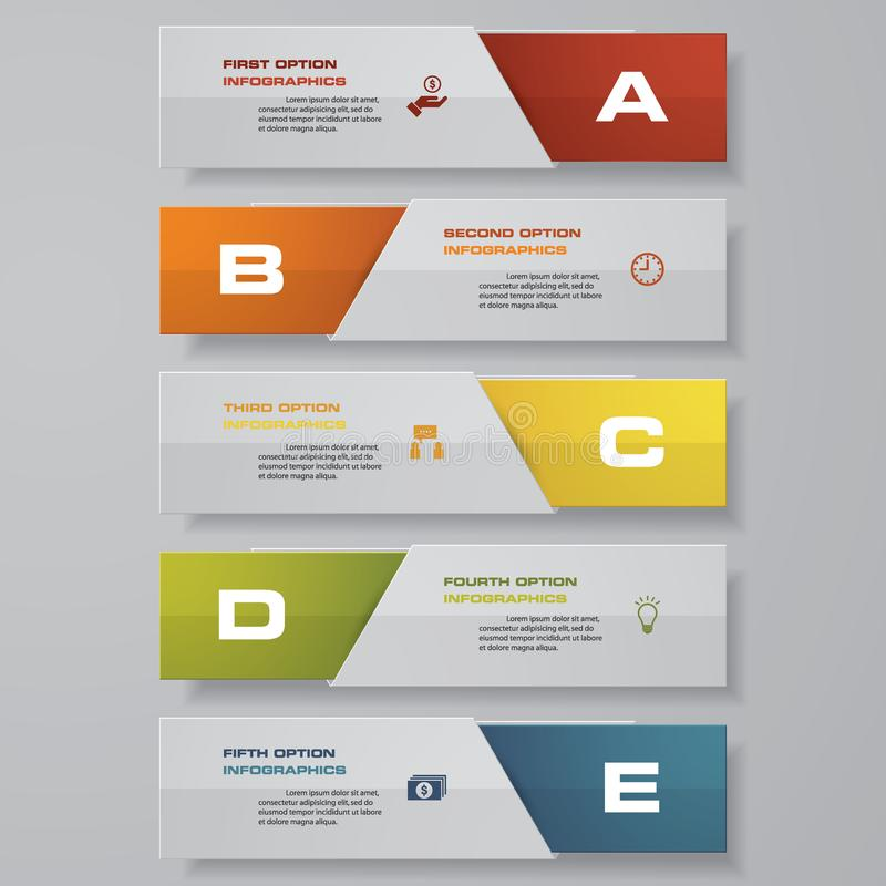 Projete o molde das bandeiras do número/disposição limpa do gráfico ou do Web site Vetor ilustração do vetor