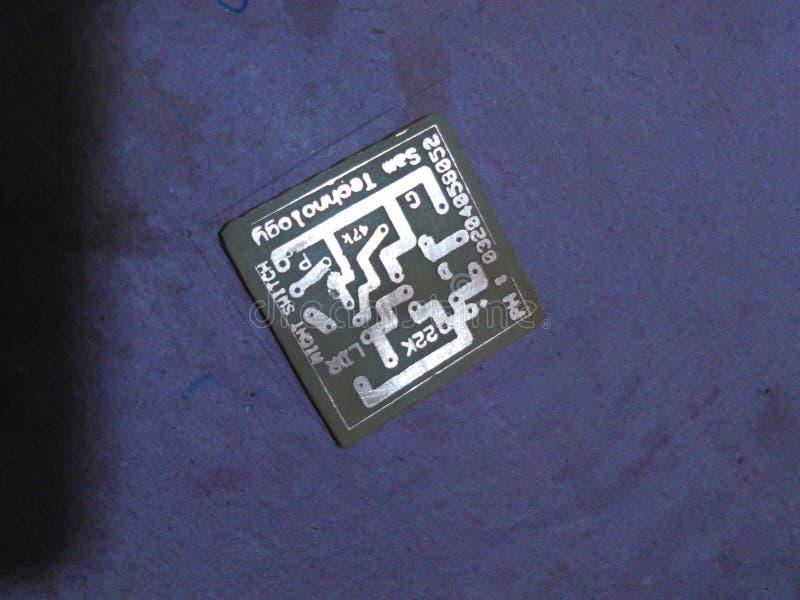 Projete um PWB da placa de circuito impresso imagem de stock