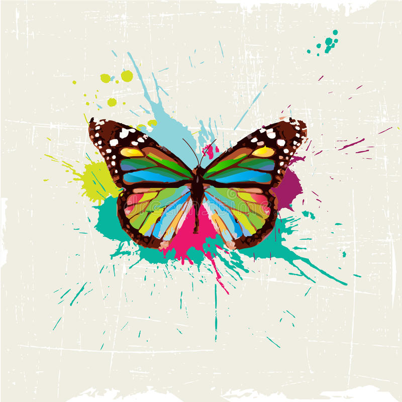 Projeto à moda da borboleta ilustração stock