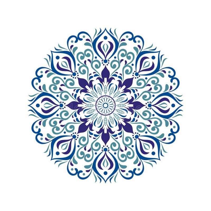 Projeto à moda e elegante da mandala ilustração royalty free