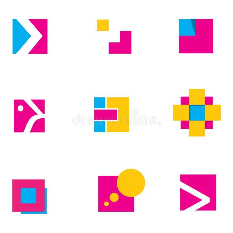 Projeto 2 geométricos do logotipo fotografia de stock royalty free