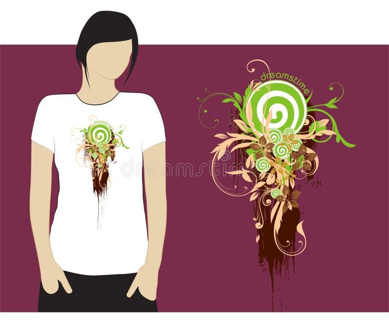 Projeto #3 do t-shirt de Dreamstime ilustração do vetor