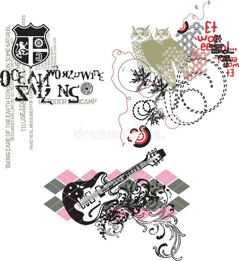 Projeto 3 do vetor ilustração royalty free