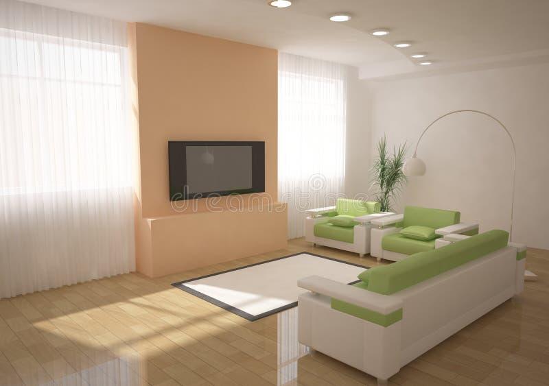 projeto 3d interior ilustração do vetor