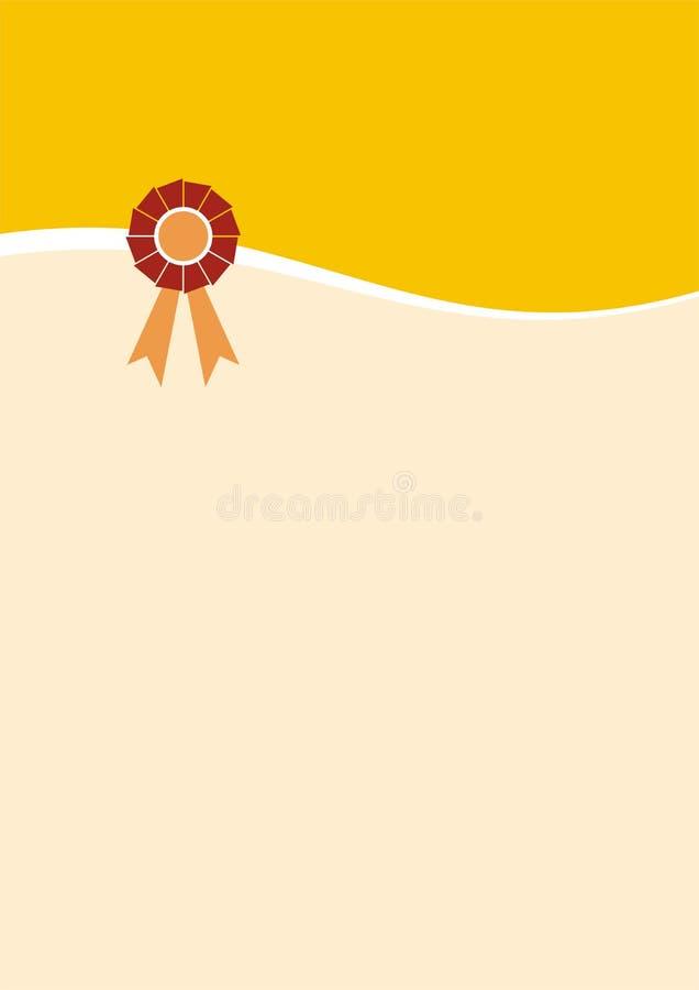 Projeto A3 do certificado ilustração royalty free