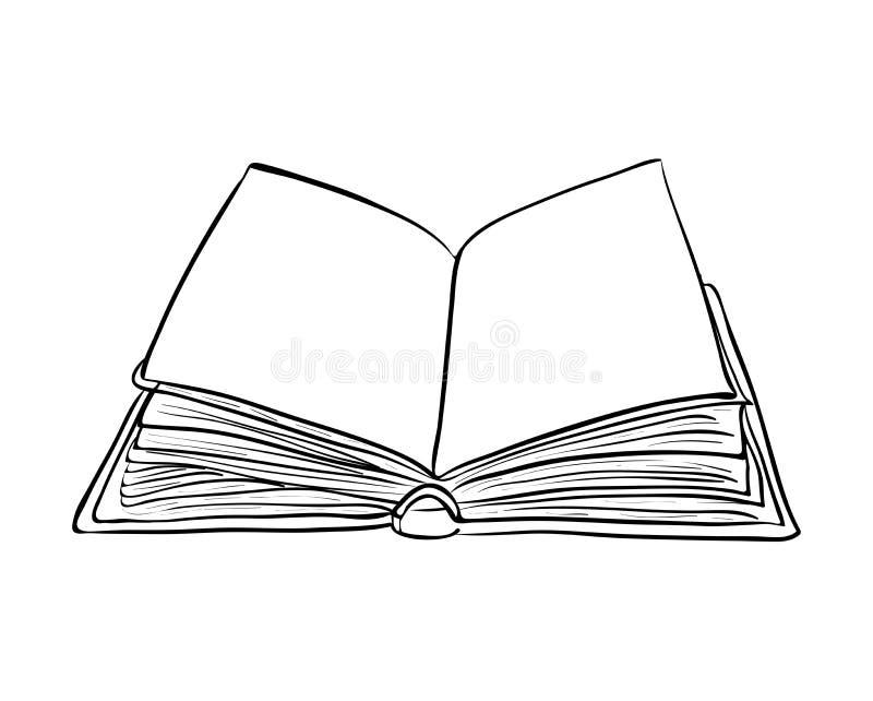 Projeto aberto do ícone do símbolo do vetor dos desenhos animados do livro Illustrat bonito ilustração royalty free
