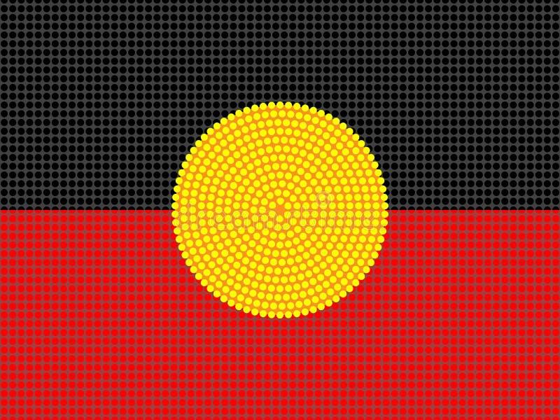 Projeto aborígene da bandeira ilustração do vetor
