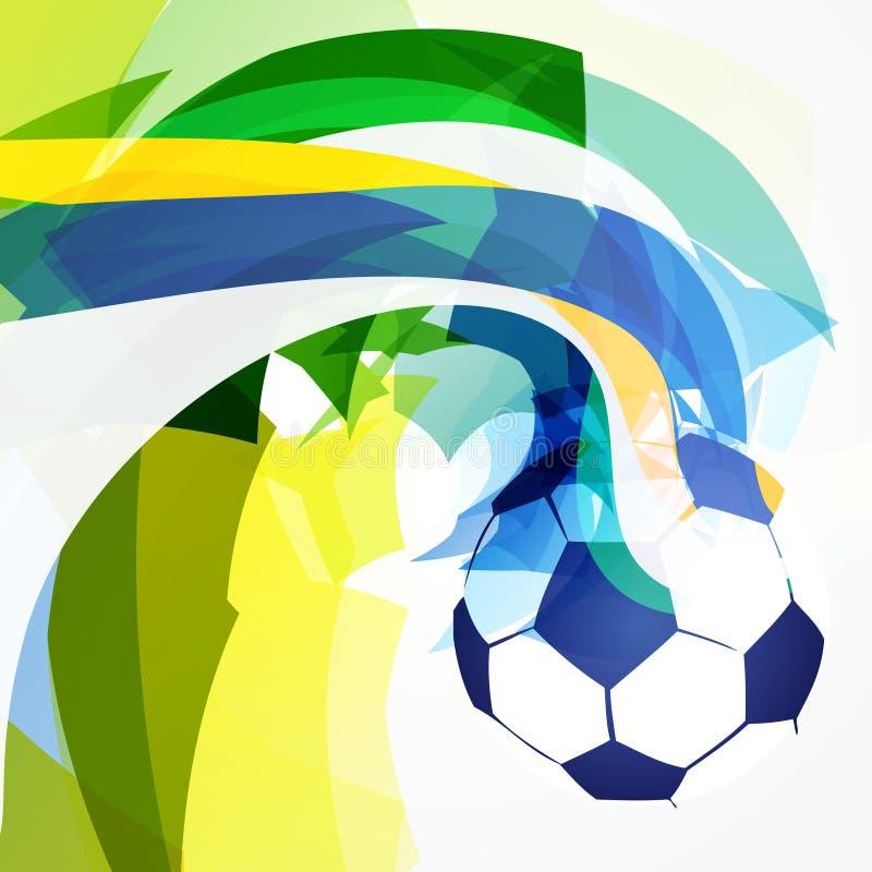 Projeto abstrato à moda do futebol ilustração do vetor