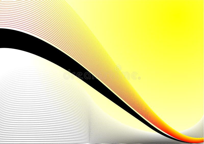 Projeto abstrato amarelo ilustração do vetor