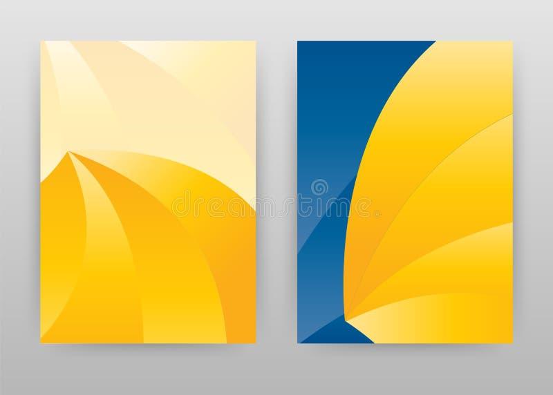 Projeto abstrato amarelo para o informe anual, folheto, inseto, cartaz Ilustração geométrica do vetor do fundo para o inseto, fol ilustração royalty free