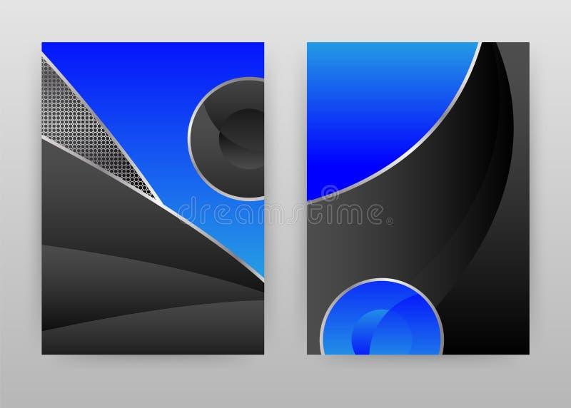 Projeto abstrato azul e preto do fundo da textura para o informe anual, folheto, inseto, cartaz Vetor de prata do fundo da textur ilustração stock
