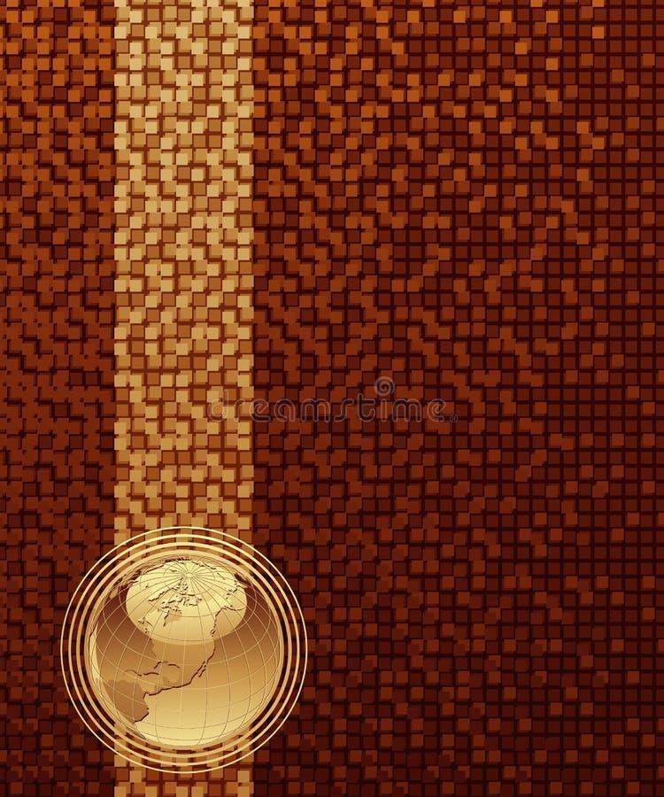 Projeto abstrato com globo. ilustração do vetor