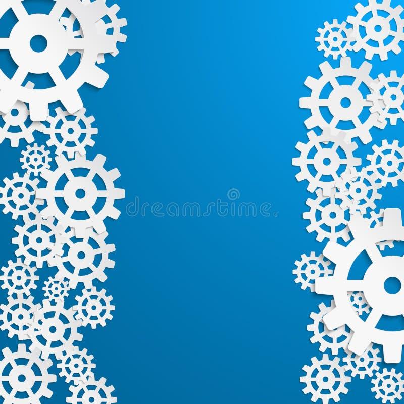 Projeto abstrato com roda da roda denteada ilustração stock