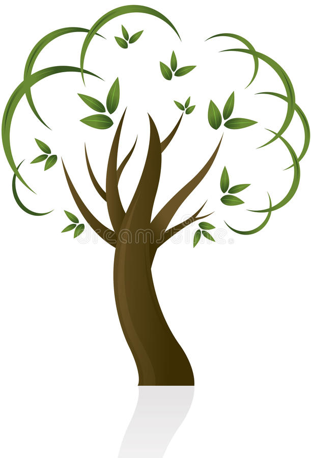 Projeto abstrato da árvore
