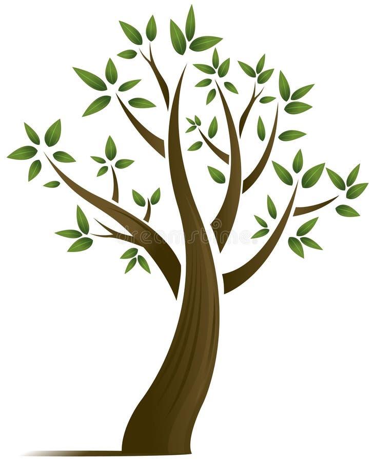 Projeto abstrato da árvore do vetor ilustração royalty free