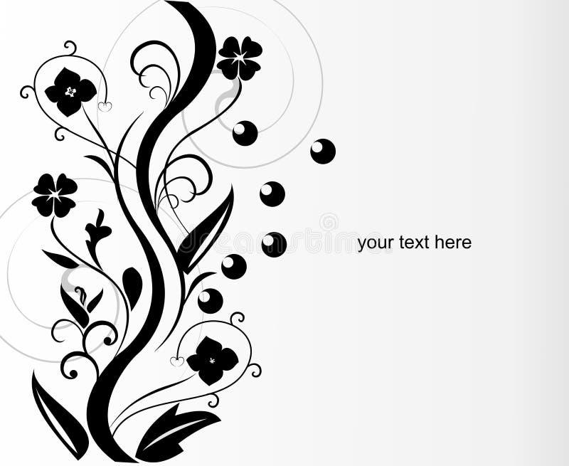 Projeto abstrato da flor ilustração do vetor