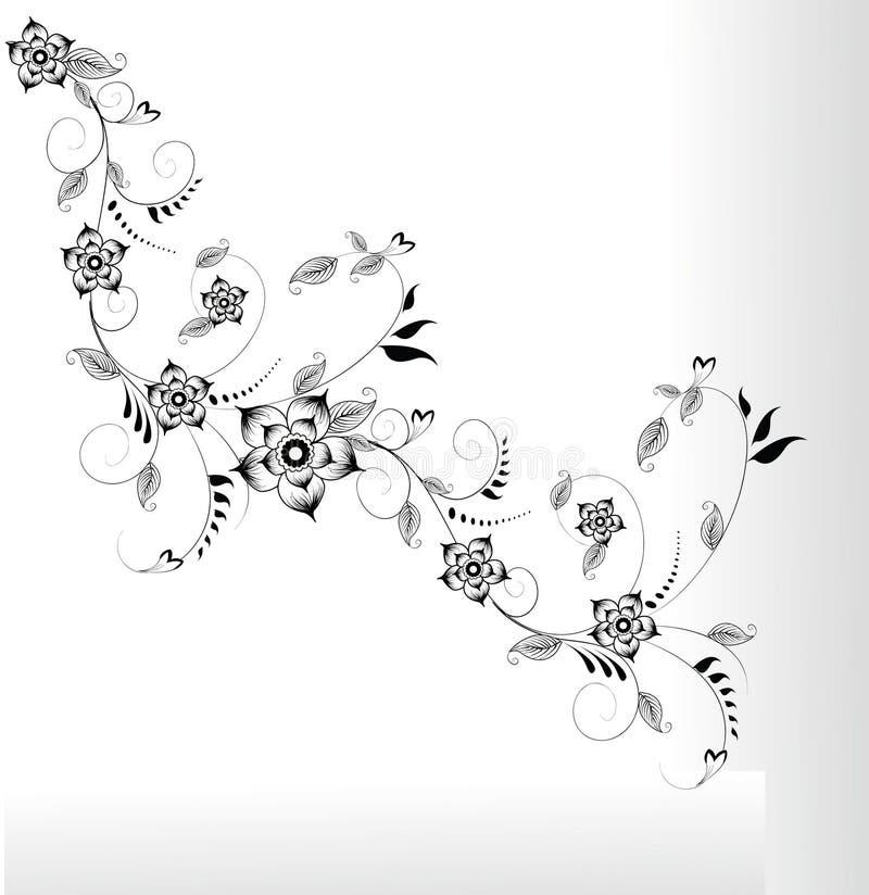 Projeto abstrato da flor ilustração royalty free