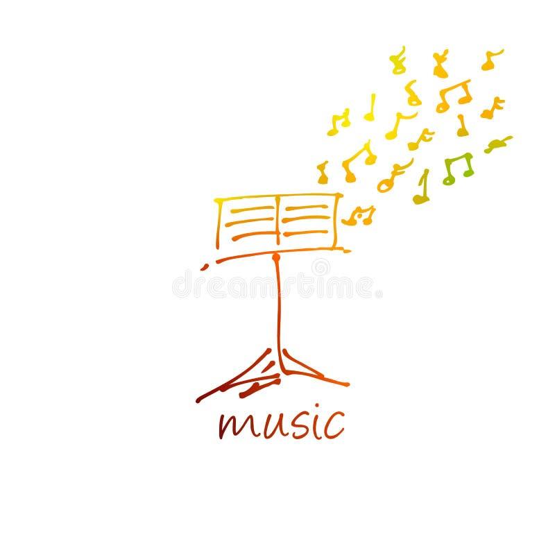 Projeto abstrato da música para o uso como um fundo ilustração stock