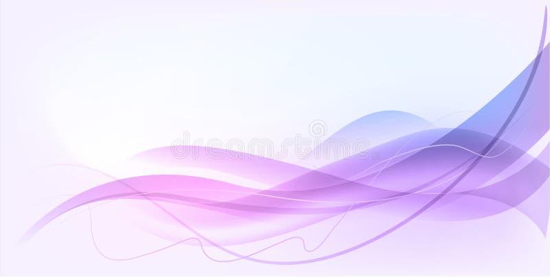 Projeto abstrato da onda ilustração stock