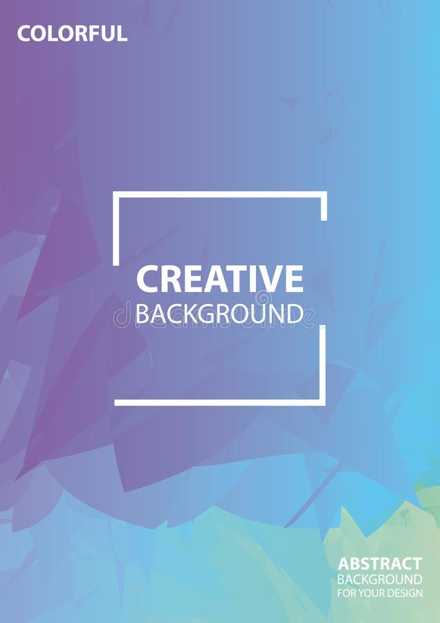 Projeto abstrato da tampa do mosaico Fundo creativo Projeto da ilustra??o do vetor ilustração royalty free