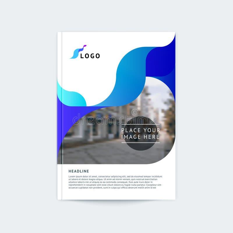 Projeto abstrato da tampa, molde do folheto do negócio, disposição, relatório, compartimento, brochura no A4 ilustração stock