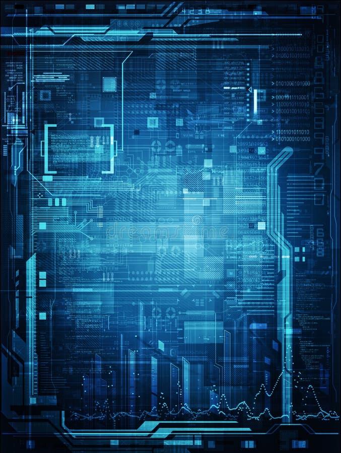 Projeto abstrato da tecnologia ilustração do vetor