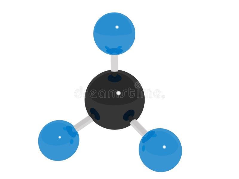 Projeto abstrato das moléculas Ilustração do vetor átomos Fundo médico ilustração stock