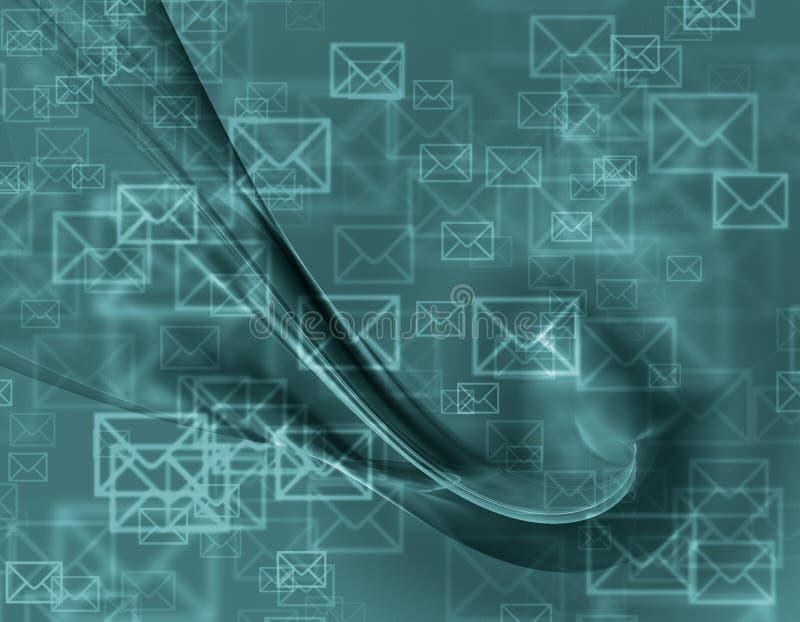 Projeto abstrato de envelopes do correio ilustração royalty free