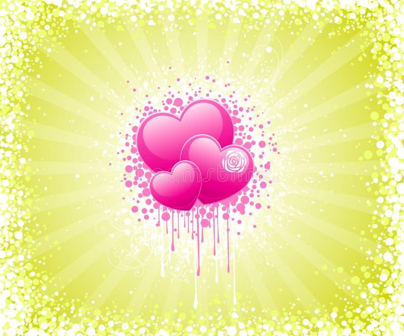Projeto abstrato do dia dos Valentim ilustração royalty free