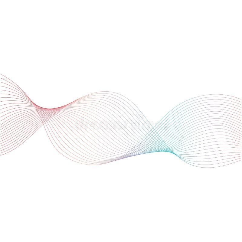 projeto abstrato do fluxo da onda da cor ilustração do vetor