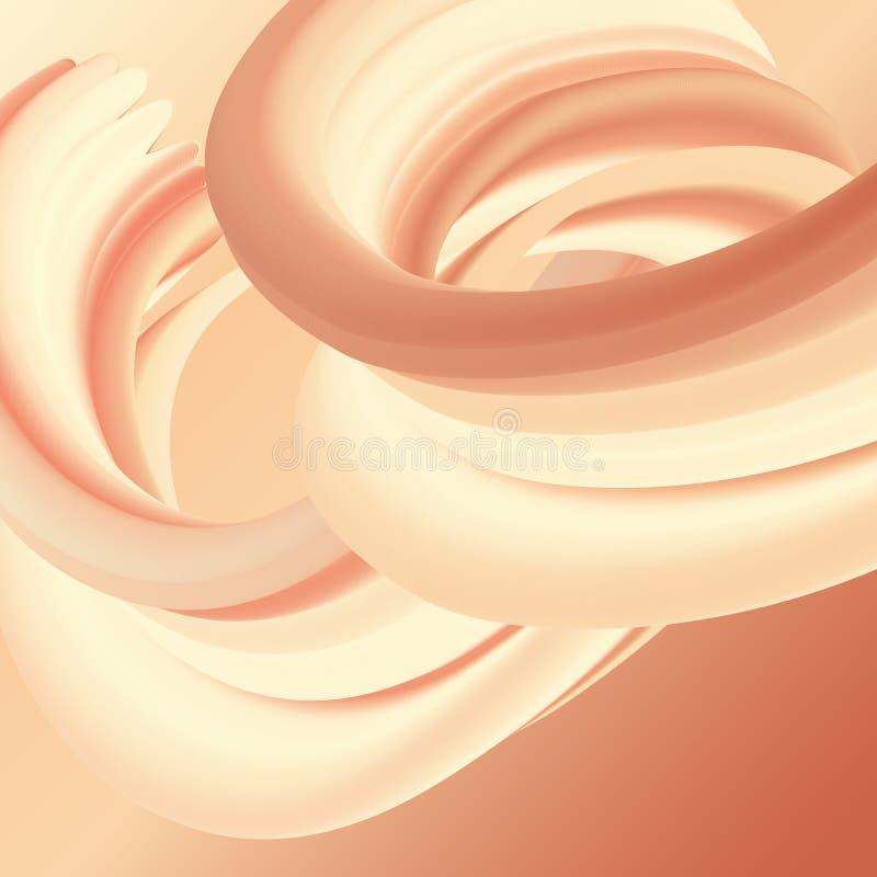 Projeto abstrato do fluxo líquido ilustração do vetor