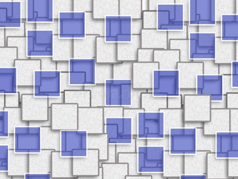 Projeto abstrato do fundo com forma do retângulo foto de stock