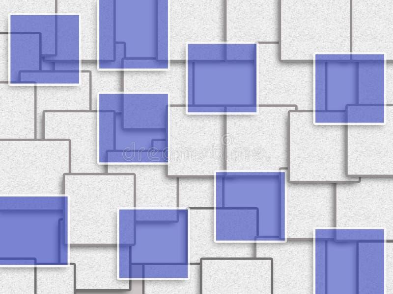 Projeto abstrato do fundo com forma do retângulo fotografia de stock royalty free