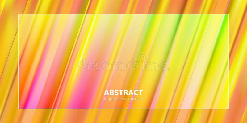 Projeto abstrato do fundo da cor do inclinação Cartazes futuristas do projeto ilustração do vetor