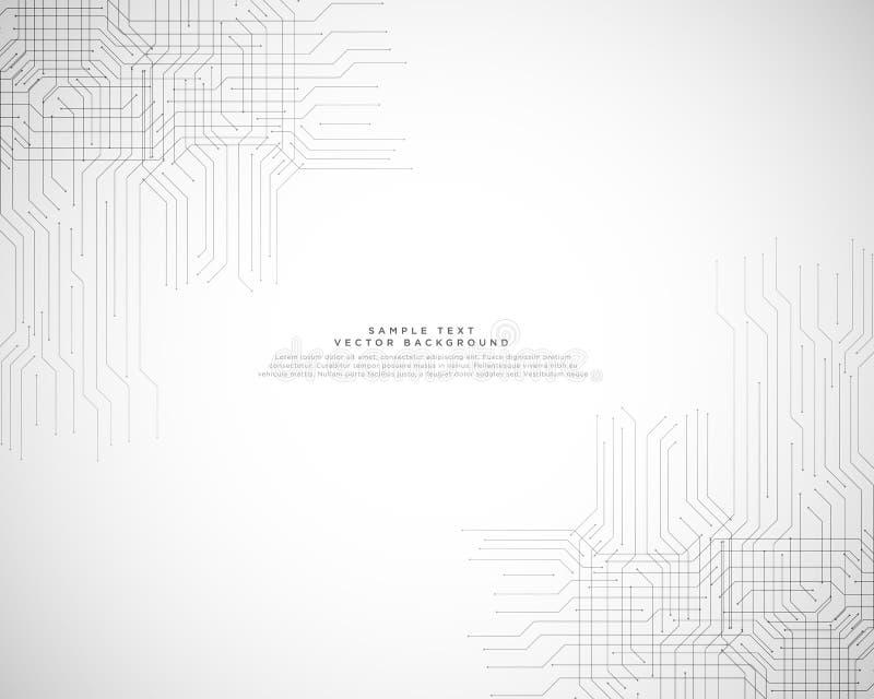Projeto abstrato do fundo da tecnologia da olá!-tecnologia ilustração stock