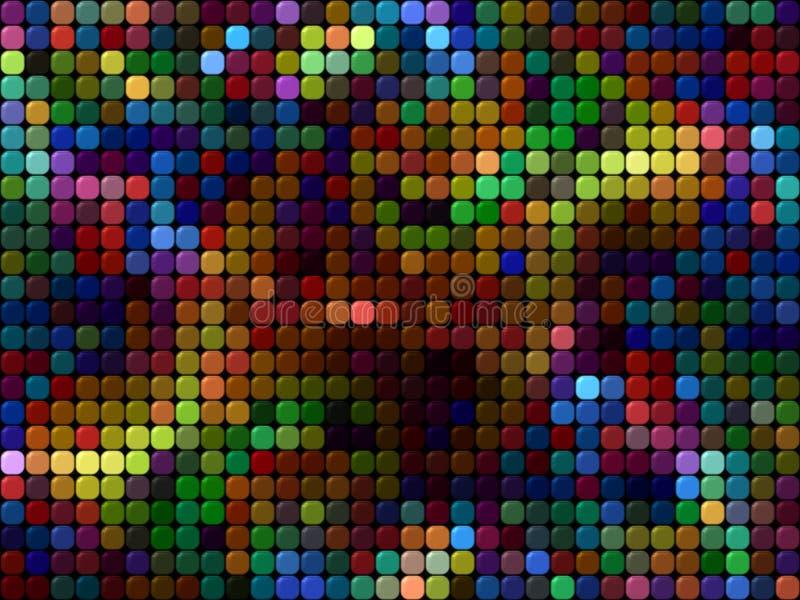Projeto abstrato do fundo usando quadrados multi-coloridos ilustração do vetor