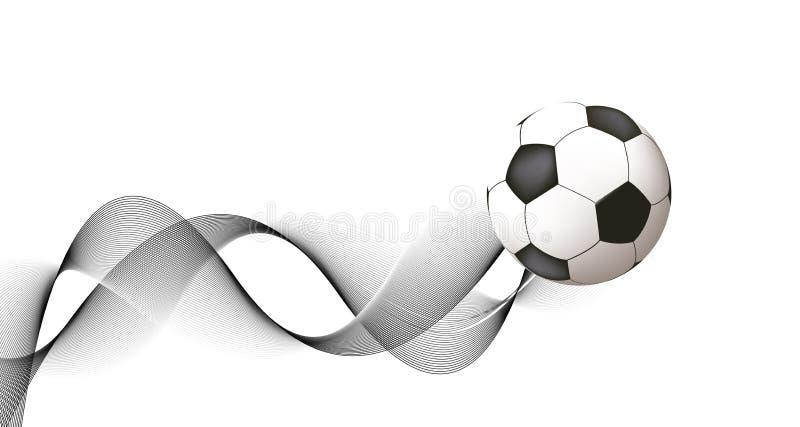 Projeto abstrato do futebol ilustração stock