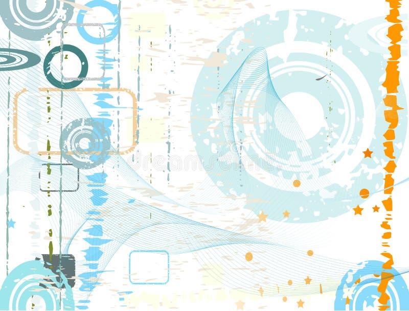 Projeto abstrato do grunge ilustração do vetor