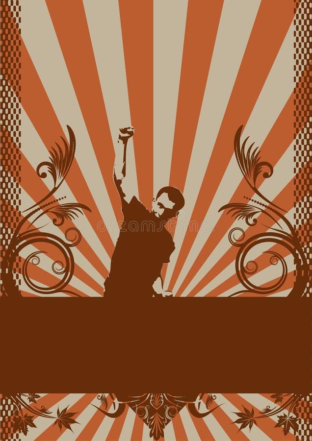 Projeto abstrato do grunge. ilustração do vetor