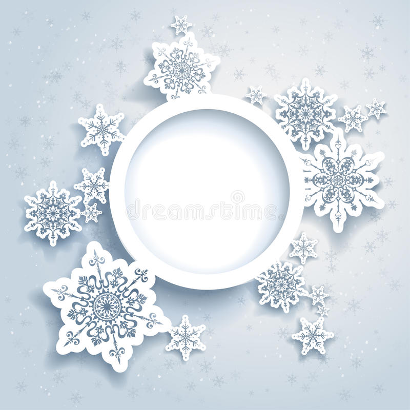 Projeto abstrato do inverno ilustração royalty free