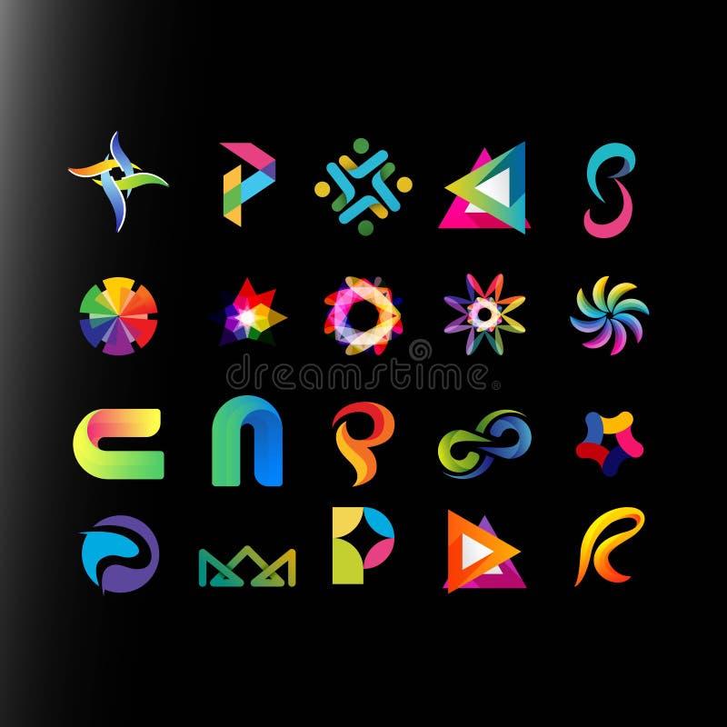 Projeto abstrato do logotipo do colorfull ilustração royalty free