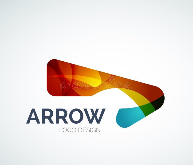 Projeto abstrato do logotipo da seta ilustração stock