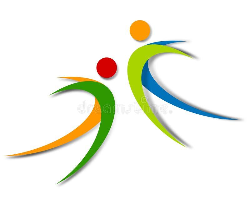 Projeto abstrato do logotipo do bem-estar ilustração royalty free