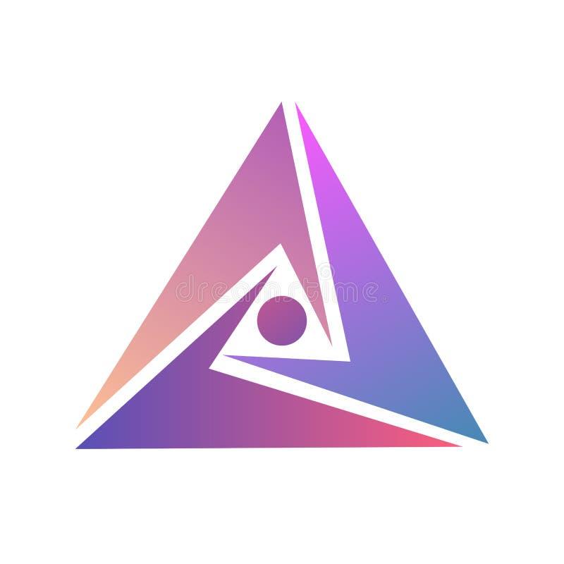 Projeto abstrato do logotipo Molde do triângulo do logotipo Ilustração do triângulo do vetor Tira de mobius infinita do ícone ilustração do vetor