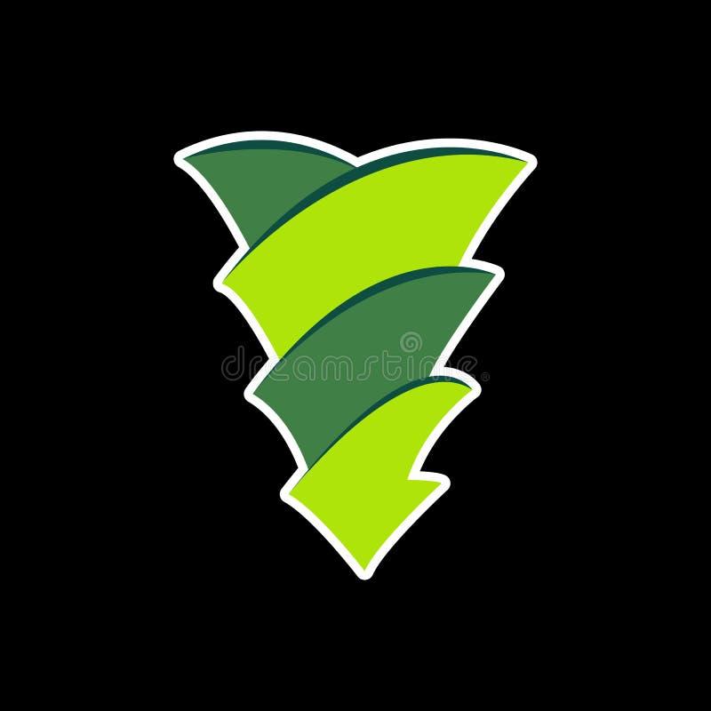 projeto abstrato do logotipo do triângulo ilustração royalty free
