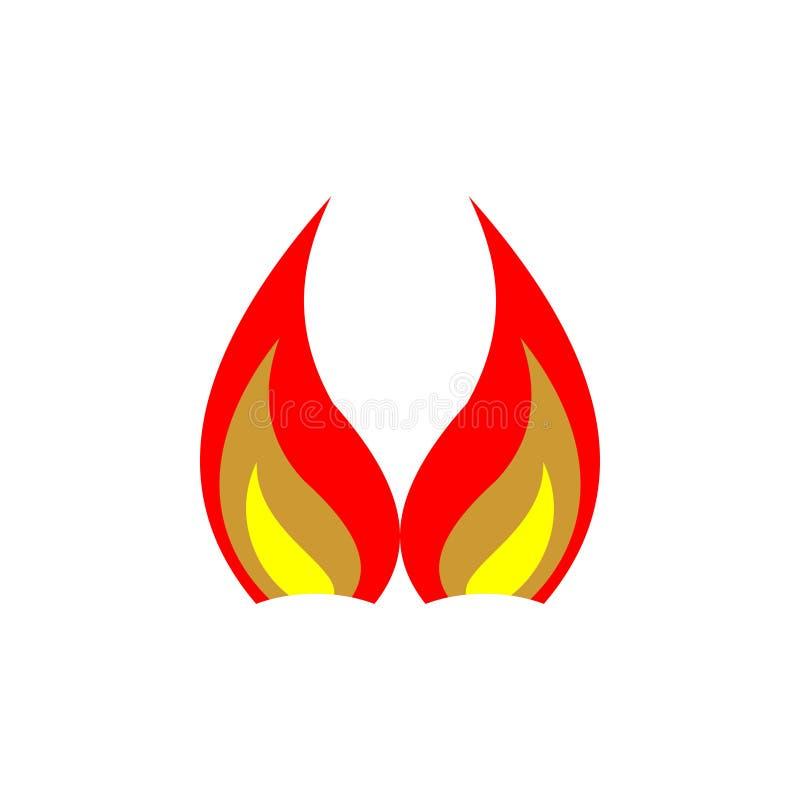 Projeto abstrato do logotipo do vetor para o fogo, indústrias, povos Ilustração do vetor ilustração royalty free