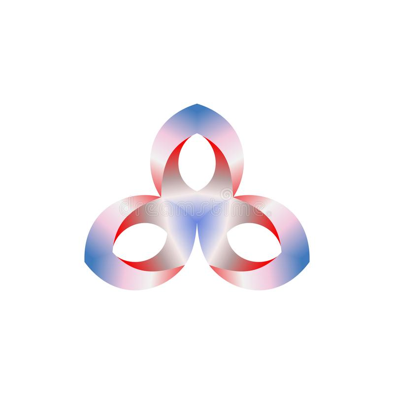 Projeto abstrato do logotipo do vetor para o negócio, as indústrias, os povos etc. Ilustração do vetor ilustração royalty free