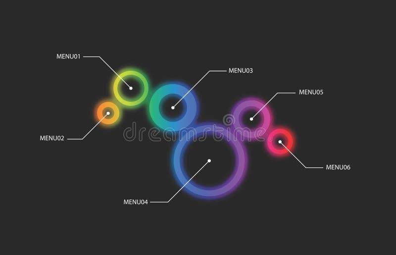 Projeto abstrato do menu do vetor ilustração stock
