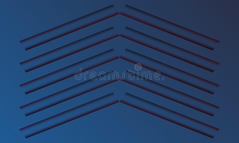 Projeto abstrato do molde 3d do fundo ilustração stock