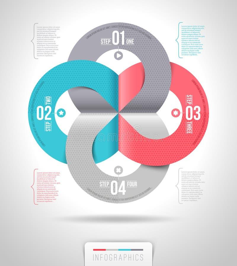 Projeto abstrato do molde do infographics ilustração stock